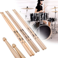 2Pcs Hickory American Classic 5A/5B/7A Drum Sticks Wood Tips Instrument Supplies Drumsticks Musical Sticks Percussion Instrument