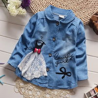 BibiCola autumn spring Korean children outerwear girls fashion cotton jacket clothes for baby girls kids casual coat outfits