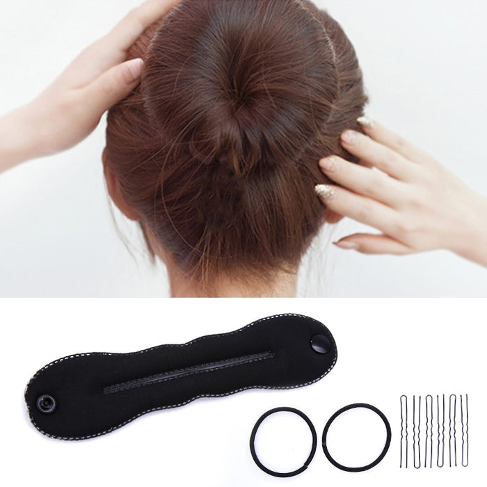 High Quality Black Hair Twist Styling Tools Bun Roller Maker Barrette for Women Girls Hair Accessories
