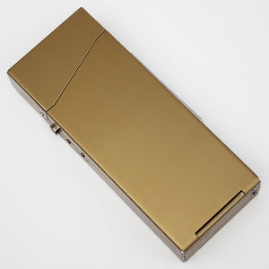 Holds 18 Cigarettes Female Thin Metal Cigarette Case with Lighter USB Charging Turbo Lighter Portable Women Fashion Holiday Gift