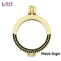 Hot! 5PCS! 35mm My moneda disc holder Coin frame locket pendant Full rhinestone Fit for 33mm coins AAAA quality MIHL02*5