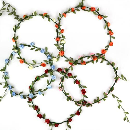 Hot NEW arrival Bohemian Style Wreath Flower Crown Wedding Garland Forehead Hair Head Band Accessories