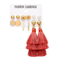 IF YOU Fashion Geometric Earrings Set For Women Oversize Long Tassel 2019 New Vintage Earring Brincos Statement Jewelry Gifts