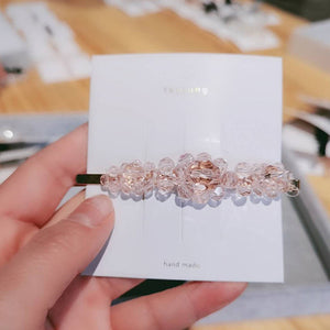 INS Crystal Shining Hair Clips Solid Hairpins Headwear for Women Ladies Slide Grips Barrette Girls Hair Accessories