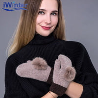 IWINTER 2018 New Fashion Brand Lovely Woman Winter Gloves Cashmere