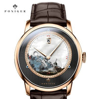 2020  Top Luxury Brand PONIGER Men Watch Japan Import Automatic Mechanical