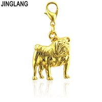 JINGLANG Lucky Hybrid Charms Colorful Alloy Pendant For Bracelet Necklace Jewelry Findings Craft Handmade 1 Psc