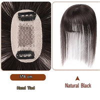 JINKAILI Black Brown Heat Resistant Synthetic Toupees Hairpieces Straight Top Natural Hair Clip Ins Air Bangs Closure Men Women