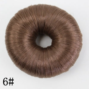 JOY&BEAUTY Donut Chignon Hot Women Synthetic Fiber Hair Bun Donuts Ring Blonde Hair Extension Wig 4 Color