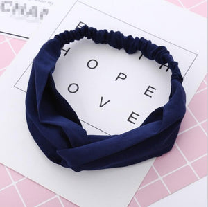 JRFSD 2019 Fashion Fabric Cross Knotted Chiffon Flowerl Hair Band Korea