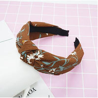 JRFSD Top Knot Hair Bow Headband Elastic Hairband Hair Accessories for Women Flower Headband Hair Band for Girls