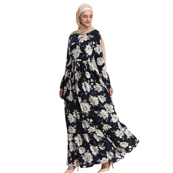 KLV Muslim Dress Long Sleeve Lose Cardigan Abaya Moroccan Dubai Kaftan Turkish Long Islamic Clothes Bangladesh Maxi Robe Ramadan