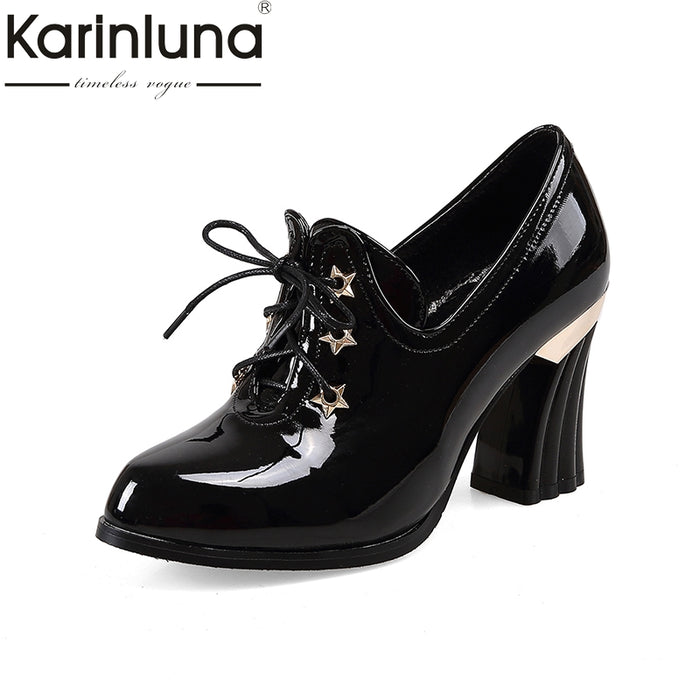 KarinLuna Plus Size 32-47 Women elegant office lady Pumps Vintage