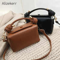 Korean Small Box Handbag Women Summer 2019 High Quality Personality New Elegant Boston Shoulder Bag Casual Square Crossbody Bag