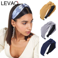 LEVAO Solid Colir Stain Headband for Women Girls Casual Shiny