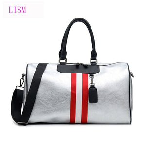 LISM Latest Short-distance PU Large-capacity Travel Bag Ladies  Handbag  2019 Men  And Women  Messenger Bags  Yoga fitness  Bags