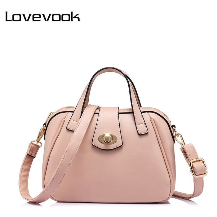 LOVEVOOK brand fashion luxury handbags women bags designer high quality messenger bag female doctor shoulder bag Pink/Blue/Red
