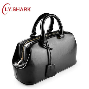 LY,SHARK luxury handbags women bags designer female bag doctor genuine leather bag women leather handbags ladies tote sac a main