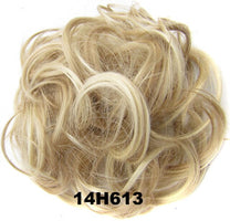 Ladies Elastic Wave Curly Synthetic hairpieces Scrunchie Wrap For Hair Bun Chignon Accessories Q5, 30g 44colors avialble 1pc
