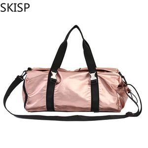 Ladies Travel Bag Pink Color Shoulder Bags for Women Waterproof Soft Handbag Men's Sport Portable Nylon Tote Bolsas Feminina
