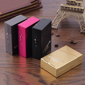Lady Women Slim Aluminum 20 Pieces Cigar Cigarette Tobacco Holder Storage Case Pocket Box New Arrival 1Pc Protable