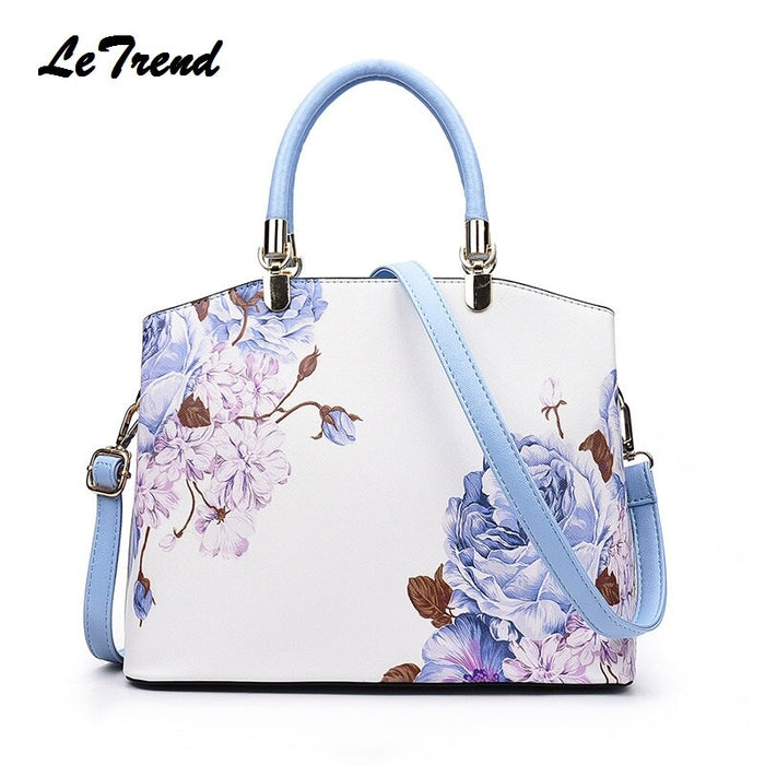 LeTrend Fashion Female PU Leather Doctor Bag Women's Handbag Shoulder Messenger bags Suitable for Girls Lady School Bag