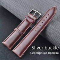Leather Band Strap Mens Women Wrist Watch 18mm 20mm 22mm 24mm Watchband Leather Silver Gold Black Brown
