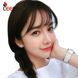 Leeons Fake Long Blunt Bangs hair Clip-In Extension Fake Fringe 100% Real Natural False hairpiece For Women Clip In Bangs