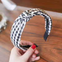 Levao Hairband Plaid Print Plastics Headband Women Girl Hair heads Hoop Bands for Girls Bezel Hair Accessories