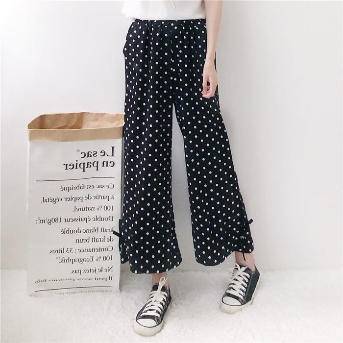 Loose Slim Retro Straight Pants 2019 Women's Kawaii Chic Ins Trousers Female Cute Japan Harajuku Buttom For Women Ulzzang