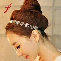 Lovely Hair Accessories Metallic Sweet Lady Hollow Rose Flower Hair