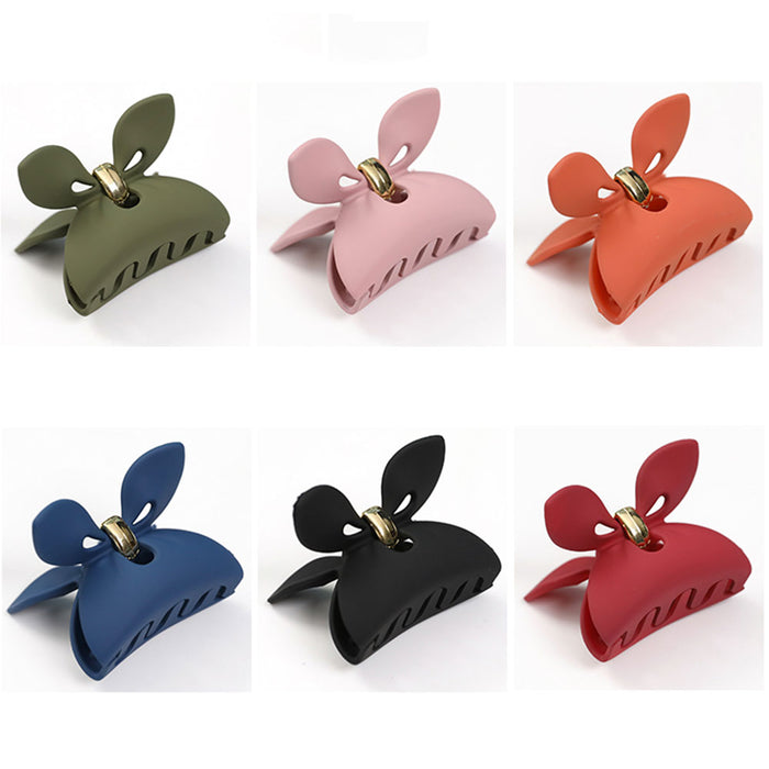 Lovely Rabbit Ear Acrylic Hair Clip Hair Claw for Women Candy Color Hair