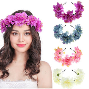 Lovely Sweat Boho Ladies Girl Floral Flower Festival Wedding Garland Hair Head Band