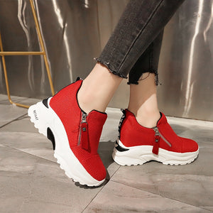 Lucyever 2019 New Spring Ladeis Casual Sneakers Women Height Increasing Vulcanized Shoes Woman Footwear Leisure Ankle Boots