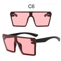Luxury Brand Oversize Square Sunglasses Women 2019 New Designer One Piece Gradient Mirror Shades Fashion Big Flat Top Goggles