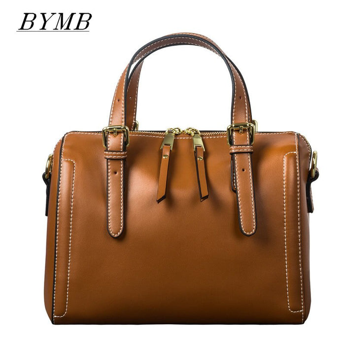 Luxury Handbags Female Genuine Leather Shoulder Bag For Women Leisure Small Duffle Handbag Nubuck Bowler Crossbody Bag