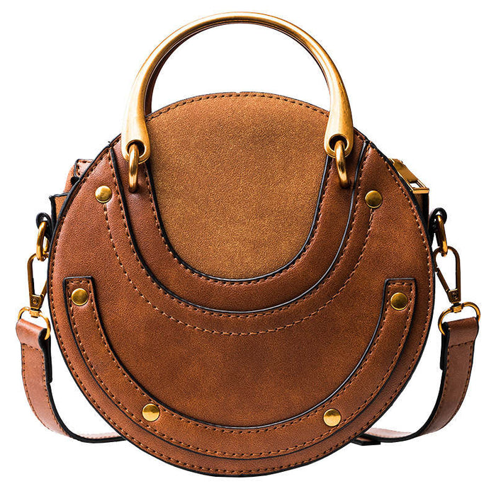 Luxury Handbags Women Bags Designer 2019 Circular Scrub PU Leather Women Bags Retro Handbag Small Round Women Shoulder Mini Bag