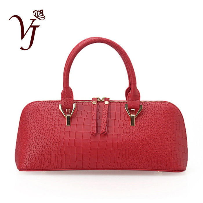 Luxury Handbags Women Bags Designer Alligator leather Female Crossbody Bag Zipper Totes bag Lady Red Shoulder Bags Sac a main