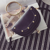 Luxury Handbags Women Bags Designer Leather Ring Half Moon Messenger Shoulder Bags Crossbody Bag For Woman Evening Bags OC575