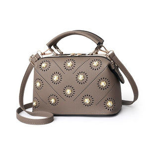 Luxury New Flower Handbag Women Bag Fashion Simple Doctor Bag Female Youth Ladies Shoulder Bag Crossbody Bag Brand Big Capacity