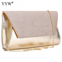 Luxury Women Bags Designer Gold Evening Party Bag for Female Clutch Bag Lady's PU Leather Handbag Famous Brand Crossbody Bag