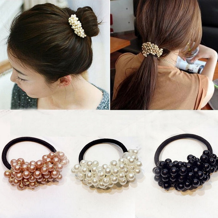 M MISM New Beads Elastic Hair Bands Gum For Hair For Women Girls