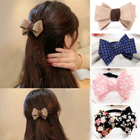 M MISM New Retro Classic Print Bow Knot Elastic Hair Band Hair Accessories
