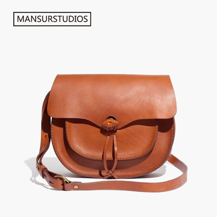 MANSURSTUDIOS women genuine leather crossbody bag ,Famous Brand real leather saddle bag,MDW leather Shoulder bag ,