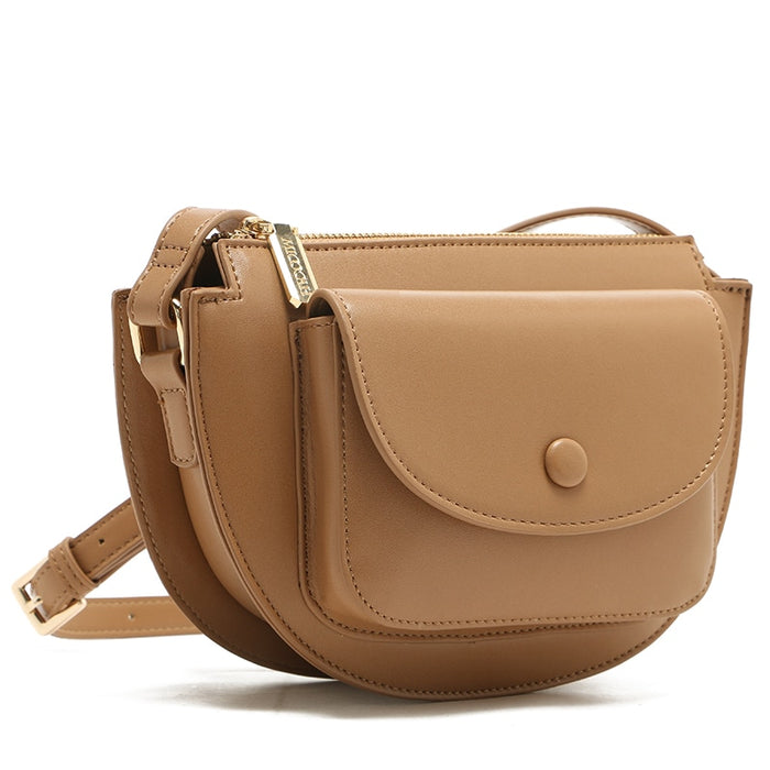 MICOCAH Small Saddle Crossbody Bag For Women Fashion Bags 2019 Messenger Bag Ladies Black/ Pink/ Brown MSD187