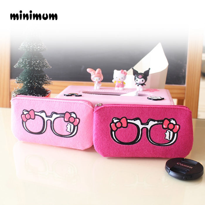 MINIMUM Sunglasses Case Women Sunglasses Bag With Zipper Easy to Carrying Light Pink Rose Red Color Lady Sunglasses Case