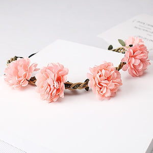 MISM Boho Flower Headbands Hair Accessories Women Garland Headdress Female Elastic Hair Bands Girls Floral Head Band Headwear