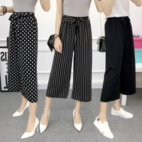 MISSMEOW summer women's pants wide leg pants  casual loose high Elastic waist pants women trousers pantalon mujer women's trouse