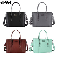 MOSISO 2019 Shoulder Bag For Women PU Leather Business Bag Large Capacity Laptop Bags Women Business Briefcase Shopping Travel