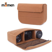 Mamen Camera Bag Padded Protective Bag Liner  Lens SLR DSLR Flash Bag  33.5*8*21.5cm